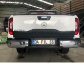 Накладка на откидной борт для Mercedes-Benz X-Class с логотипом (цвет черный, пластик ABS), изображение 5