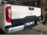 Накладка на откидной борт для Mercedes-Benz X-Class с логотипом (цвет черный, пластик ABS), изображение 4