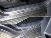 Хромированные накладки для Toyota Landcruiser Prado 150 на пластиковые пороги 4шт