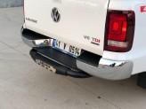 """Задняя подножка """"Titanic Plus"""" для Toyota HiLux с логотипом, цвет черный"""