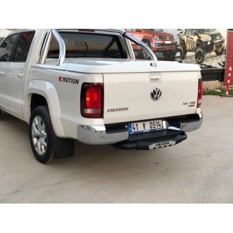 """Задняя подножка """"Titanic Plus"""" для Volkswagen Amarok с логотипом"""