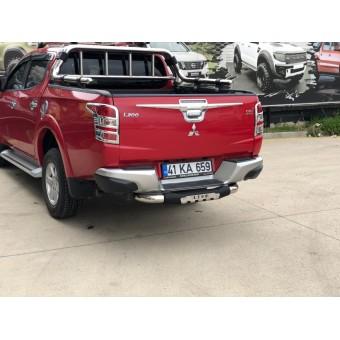"Задняя подножка ""Titanic Plus Chrome"" для Fiat Fullback с логотипом"
