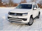 Защита передняя для Volkswagen Amarok нижняя 76/42мм с решеткой