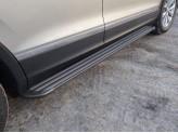 Пороги алюминиевые для Volkswagen Tiguan, модель`Slim Line Black`
