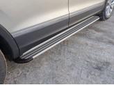 Пороги алюминиевые `Slim Line Silver`