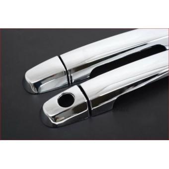 Хромированные накладки на дверные ручки Mazda BT-50 (2 ч.,нерж. сталь)