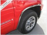 Хромированные накладки для Hummer H3 на колёсные арки из 6 ч. (полир. нерж. сталь), изображение 5