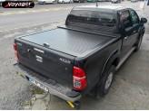 """Алюминиевая крышка для Toyota HiLux """"ROLL-ON"""" цвет черный"""