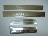 Накладки на дверные пороги с логотипом 4 шт.