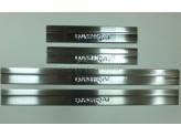 Хромированные накладки для Nissan Qashqai на дверные пороги 4 шт. с 2010 г.-