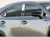 Хромированные накладки на дверные стойки Lexus NX