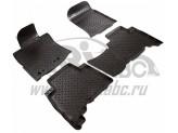 Коврики NORPLAST резиновые для Toyota Landcruiser Prado 150, цвет черный