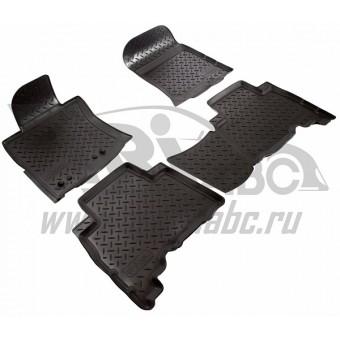 Коврики NORPLAST резиновые (полиуретан) для Toyota Landcruiser Prado 150, цвет черный (для 5-ти местного )