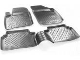 Коврики NORPLAST резиновые для Toyota Landcruiser 200, цвет черный