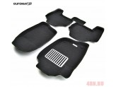 """Коврики """"Euromat 3D"""" для Mitsubishi L200 в салон, цвет черный"""