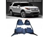 """""""Кожаные"""" коврики для Ford Explorer в салон, цвет черный"""