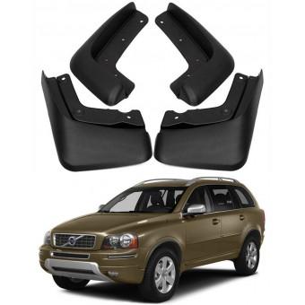 Комплект брызговиков AGT4X4 на Volvo XC 90 (пластик ABS, устанавливаются в штатные места без сверления элементов кузова)