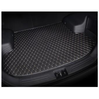 """""""Кожаный"""" коврик багажника из высокосортного полиуретана для Toyota Landcruiser 200, цвет черный (для 5-ми местного)"""