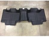 """""""Кожаные"""" коврики из высокосортного полиуретана для Toyota Landcruiser Prado J12 в салон, цвет черный, изображение 3"""