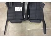 """""""Кожаные"""" коврики из высокосортного полиуретана для Toyota Landcruiser Prado J12 в салон, цвет черный, изображение 2"""