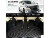 """""""Кожаные"""" коврики для Toyota Alphard в салон, цвет черный"""