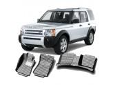 """""""Кожаные"""" коврики из высокосортного полиуретана для Land Rover Discovery IV в салон, цвет черный"""