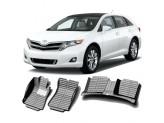 """""""Кожаные"""" коврики из высокосортного полиуретана для Toyota Venza в салон, цвет черный, кузов AGV10"""