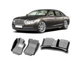 """""""Кожаные"""" коврики из высокосортного полиуретана для Bentley CONTINENTAL GT в салон, цвет черный, для мод. 2006-2013"""