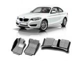"""""""Кожаные"""" коврики из высокосортного полиуретана для BMW 3-Series в салон, цвет черный"""