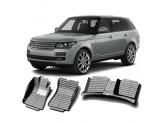 """""""Кожаные"""" коврики из высокосортного полиуретана для Lexus Range Rover VOGUE в салон, цвет черный кузов L405"""