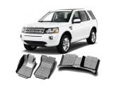 """""""Кожаные"""" коврики из высокосортного полиуретана для Land Rover Freelander II в салон, цвет черный"""