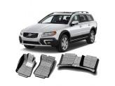 """""""Кожаные"""" коврики из высокосортного полиуретана для Volvo XC 70 в салон, цвет черный, кузов BZ"""