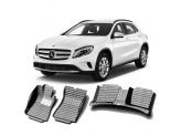 """""""Кожаные"""" коврики из высокосортного полиуретана для Mercedes-Benz GLA в салон, цвет черный"""