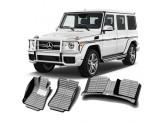 """""""Кожаные"""" коврики из высокосортного полиуретана для Mercedes-Benz G-class 463 в салон, цвет черный, кузов W460\461"""