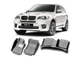 """""""Кожаные"""" коврики из высокосортного полиуретана для BMW X5 в салон, цвет черный"""