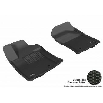 """Комплект передних ковриков в салон """"3D MAXpider"""", цвет черный (можно заказать бежевые и серые)**"""