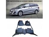 """""""Кожаные"""" коврики для Mazda 5 в салон, цвет черный"""