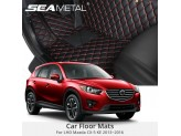 """""""Кожаные"""" коврики для Mazda CX 5 в салон, цвет черный"""