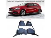 """""""Кожаные"""" коврики для Mercedes-Benz A-class в салон, цвет черный"""