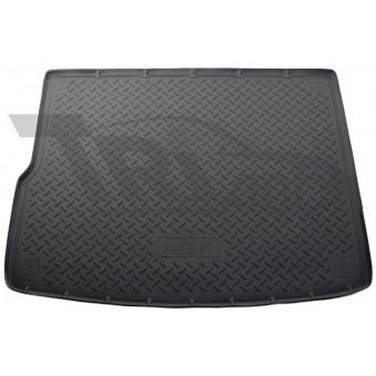Коврик багажника NORPLAST резиновый (полиуретан) для Volkswagen Touareg, (цвет серый, 4-х зонный климат контроль)