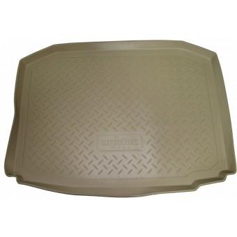 Коврик багажника NORPLAST резиновый (полиуретан) для Volkswagen Touareg, (цвет бежевый, 4-х зонный климат контроль)