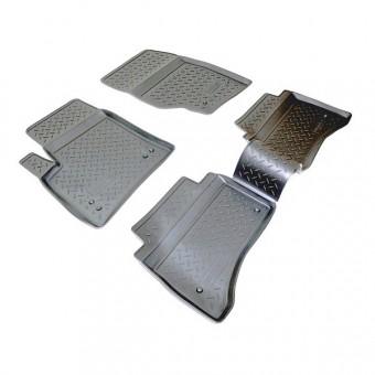 Коврики NORPLAST резиновые (полиуретан) для Volkswagen Touareg, цвет черный