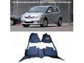 """""""Кожаные"""" коврики для Toyota Prius в салон, цвет черный"""