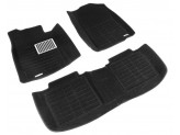 """Коврики """"Pradar 3D XL"""" для Mitsubishi Pajero V80 черные с высоким бортиком с металлическим подпятником"""