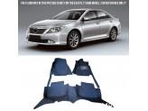 """""""Кожаные"""" коврики для Toyota Camry в салон, цвет черный"""
