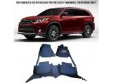 """""""Кожаные"""" коврики для Toyota Highlander в салон, цвет черный"""