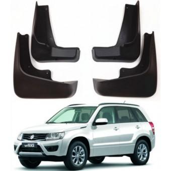 Комплект брызговиков AGT4X4 на Suzuki Grand Vitara (пластик ABS, устанавливается в штатные места без сверления элементов кузова) 2008-2014 г.