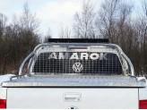 Защита кузова и заднего стекла со светодиодной фарой 75 х 42 мм, полир. нерж. сталь для мод. с 2017 г.