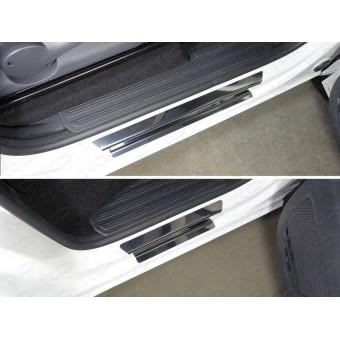 Хромированная накладка для Volkswagen Amarok на пороги (лист зеркальный) полир. нерж. сталь для мод. с 2017 г.