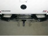 Хромированная накладка для Volkswagen Amarok на задний бампер, полир. нерж. сталь для мод. с 2017 г.